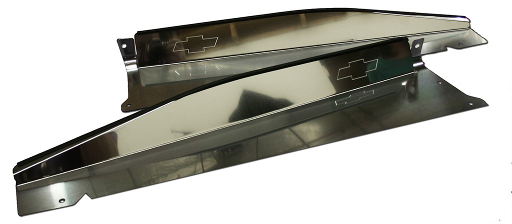 1967 1968 Chevy C10 Radiator Panel with quot Bowtie quot Engraved