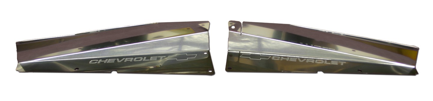 "61 Impala Polished Radiator Show Panel - polished - with ""Bowtie/Chevrolet"" Engraved"
