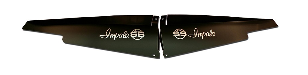 "63 Impala Radiator Show Panel - black - with ""SS"" Engraved"