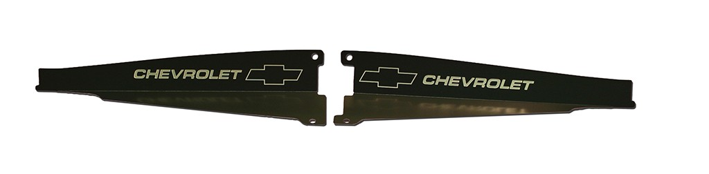 "64 Chevelle Radiator Show Panel - black - with ""Bowtie/Chevrolet"" Engraved"