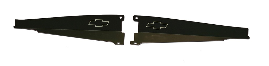 "64 Chevelle Radiator Show Panel - black - with ""Bowtie"" Engraved"