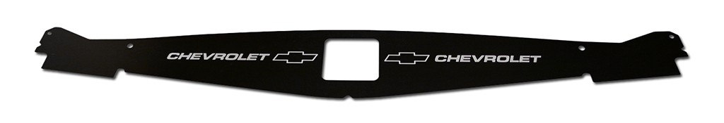 "65-66 Impala  Radiator Show Panel - Black - with ""Bowtie/Chevrolet"" Engraved"