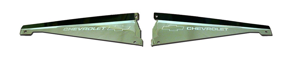 """65 Chevelle Polished Radiator Show Panel - with """"Bowtie/Chevrolet"""" Engraved"""