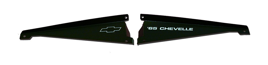 "65 Chevelle Radiator Show Panel - black - with ""Chevelle""  Engraved"