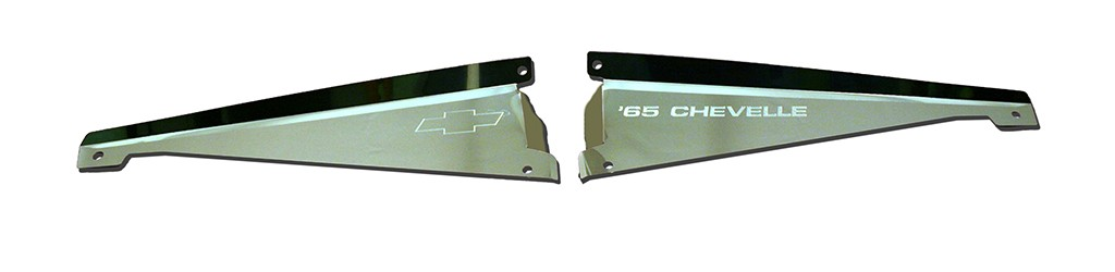 "65 Chevelle Polished Radiator Show Panel - polished - with ""Chevelle""  Engraved"