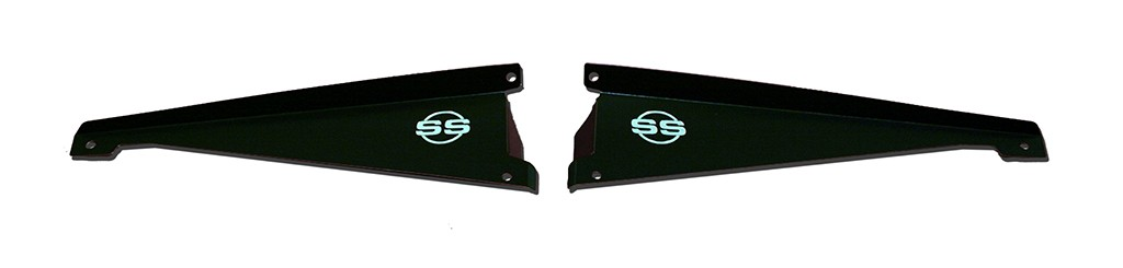 "65 Chevelle Radiator Show Panel - black - with ""SS"" Engraved"