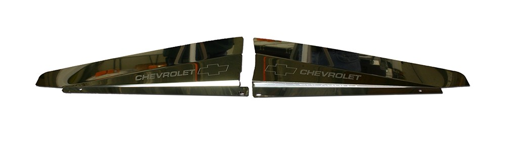 "66 Chevelle Polished Radiator Show Panel - with ""Bowtie/Chevrolet"" Engraved"