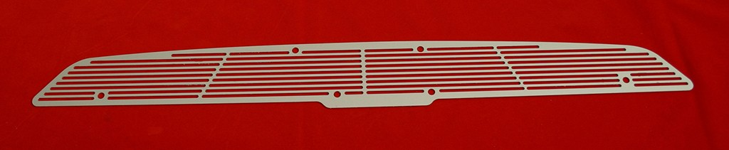 67-69 Camaro Cowl Induction Hood Grille - silver satin