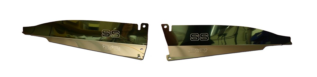 "67 Chevelle Polished Radiator Show Panel - polished - with ""SS"" Engraved"