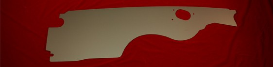 68-69 Camaro Firewall Panel with wiper holes - silver satin