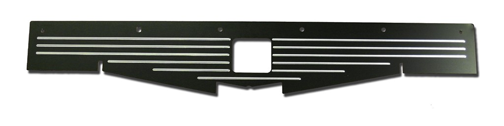 "68-69 Chevelle Black Radiator Show Panel - black - with ""Ball-Milled"" Engraved"