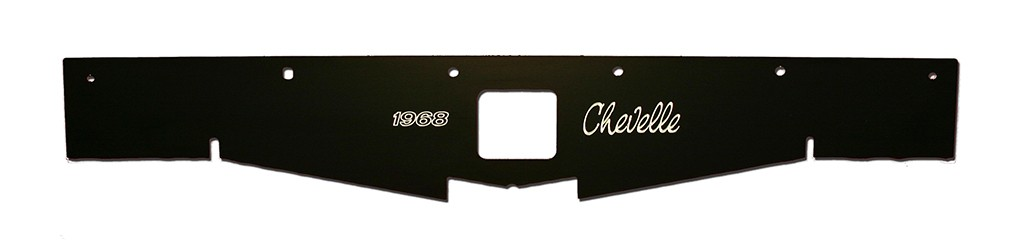 "68-69 Chevelle Radiator Show Panel - black - with ""Chevelle""  Engraved"