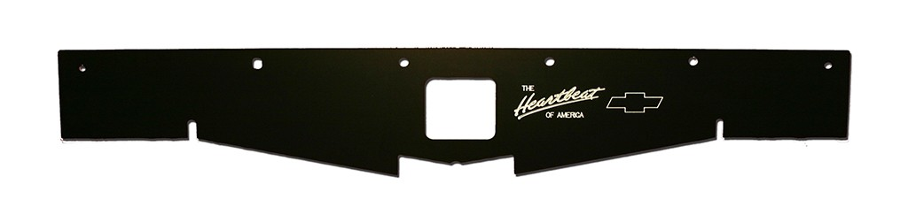 "68-69 Chevelle Radiator Show Panel - black - with ""Heartbeat of America"" Engraved"