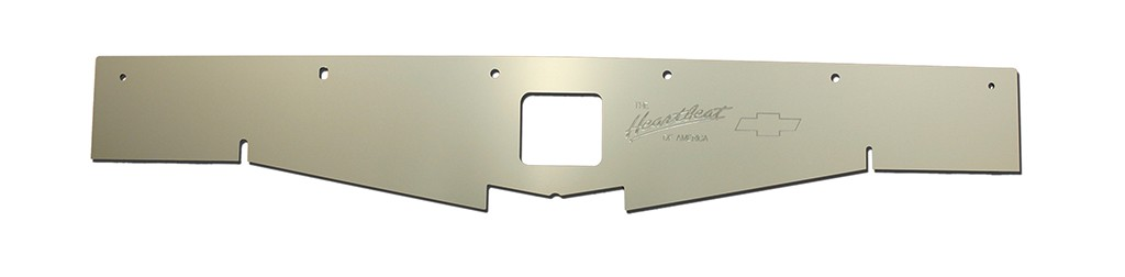 "68-69 Chevelle Radiator Show Panel - silver satin - with ""Heartbeat of America"" Engraved"