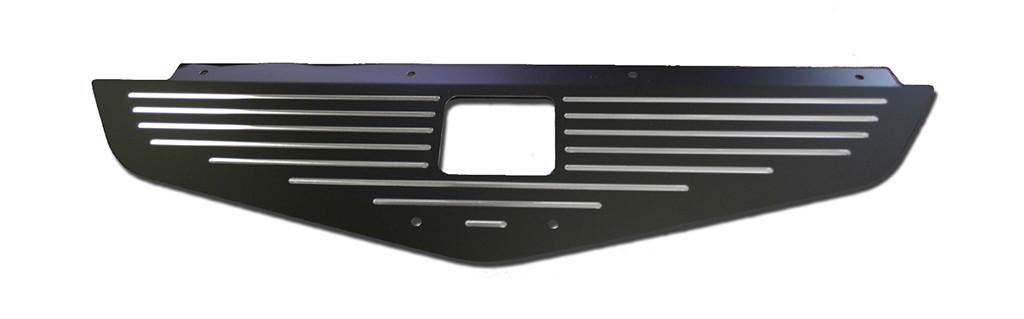 "70-72 Chevelle/Monte Carlo  Radiator Show Panel - black - with ""Ball-Milled"" Engraved"