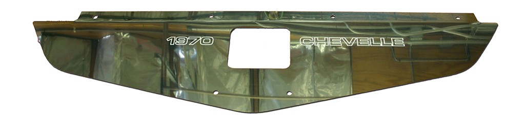 "70-72 Chevelle Polished Radiator Show Panel - polished - with ""Chevelle""  Engraved"