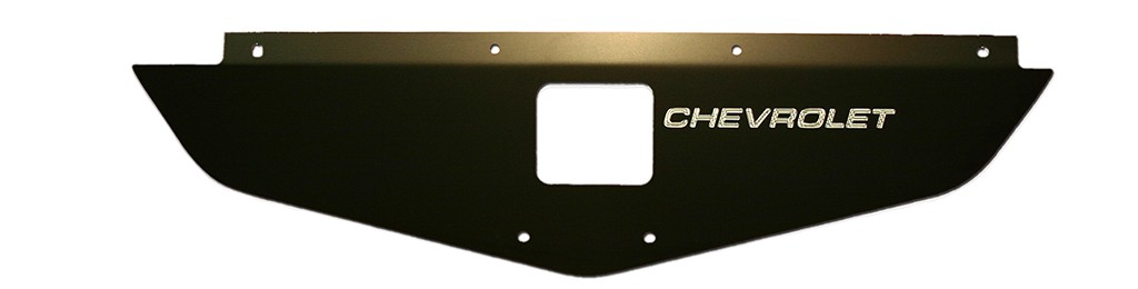 "70-72 Chevelle/Monte Carlo Radiator Show Panel - black - with ""Chevrolet"" Engraved"