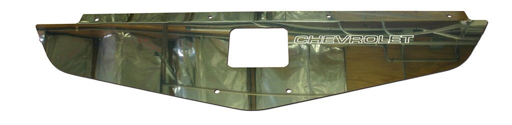 "70-72 Chevelle/Monte Carlo Radiator Show Panel - polished - with ""Chevrolet"" Engraved"