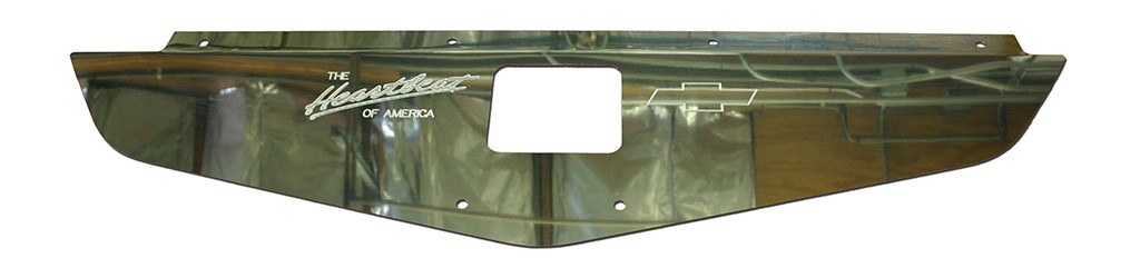 "70-72 Chevelle/Monte Carlo Polished Radiator Show Panel - polished - with ""Heartbeat of America"" Engraved"
