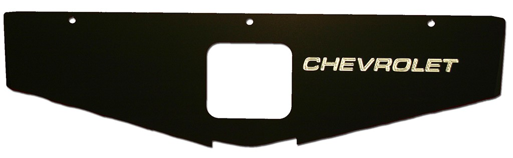 "70-81 Camaro Radiator Show Panel - black - with ""Chevrolet"" Engraved"