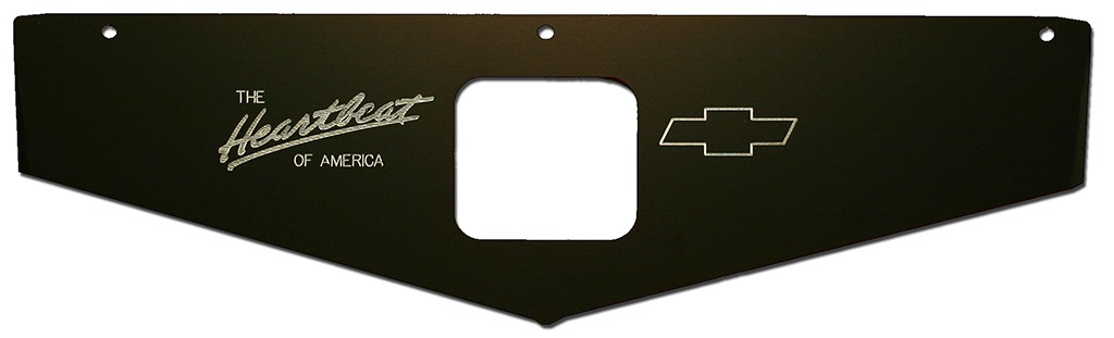 "70-81 Camaro Radiator Show Panel - black  - with ""Heartbeat of America"" Engraved"