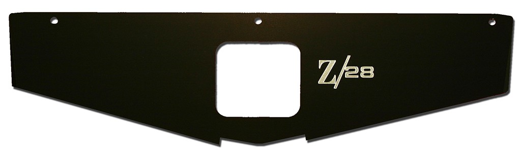 "70-81 Camaro Radiator Show Panel - black - with ""Z/28"" Engraved"