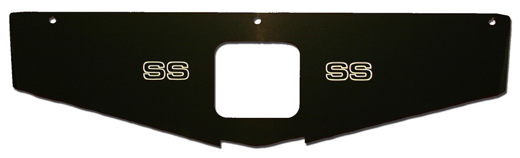"70-81 Camaro Radiator Show Panel - black - with ""SS"" Engraved"
