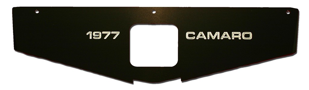 "70-81 Camaro Radiator Show Panel - black - with ""Camaro"" Engraved"