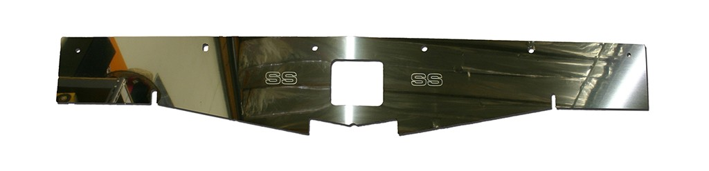 "68-69 Chevelle Polished Radiator Show Panel - polished - with ""SS"" Engraved"