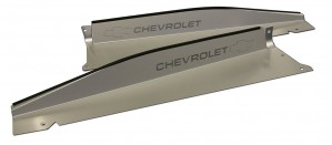 "1967-1968 Chevy C10 Radiator Panel with ""Bowtie/Chevrolet"" Engraved"
