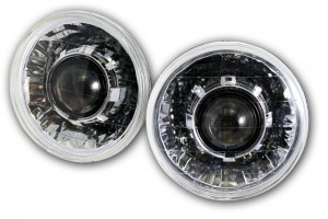 Chevy C10 Projector Headlights - Classic V2 - Black